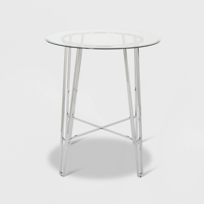 """36"""" Acme Round Modern Bar Table Silver - Christopher Knight Home"""