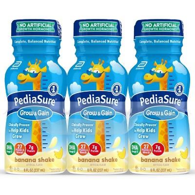 PediaSure Grow  Gain Kids Nutritional Banana Shake - 6pk/48 fl oz