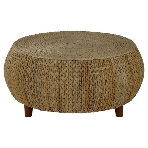 Bali Breeze Low Round Accent Table - Natural - Gallerie Décor - image 1 of 1