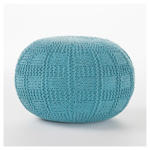 Awe Inspiring Yuny Pouf Ottoman Blue Christopher Knight Home Bralicious Painted Fabric Chair Ideas Braliciousco