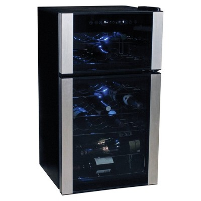 Koolatron 29-Bottle Dual-Zone Wine Cooler - Black