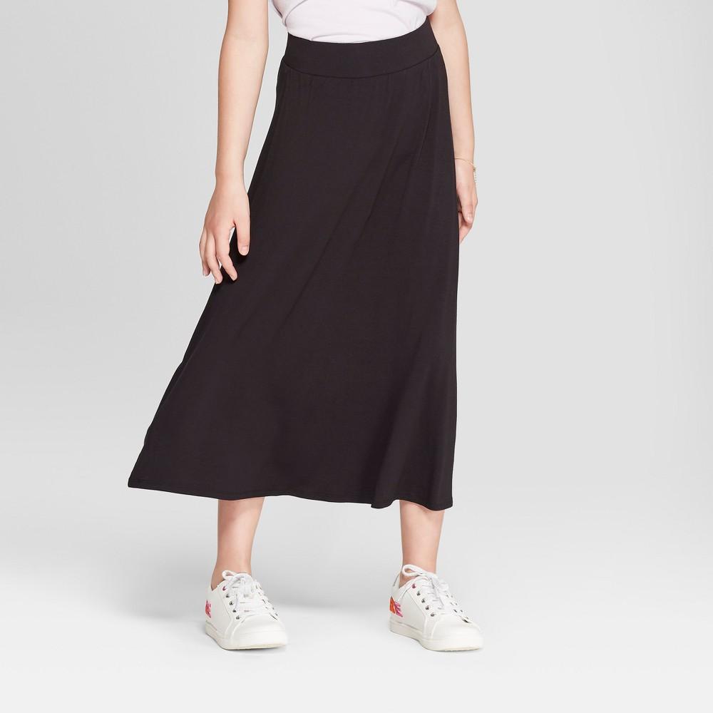 Image of Girls' Maxi Skirt - Cat & Jack Black L, Girl's, Size: Large