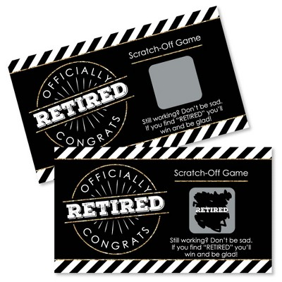 Big Dot of Happiness Happy Retirement - Retirement Party Game Scratch Off Cards - 22 Count