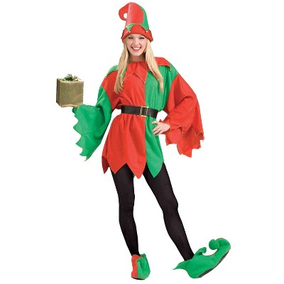Adult Santa's Helper Elf Halloween Costume