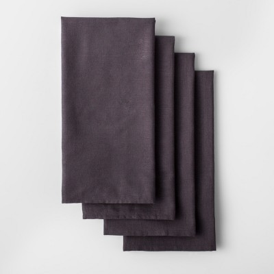 4pk Solid Flour Sack Dishtowel Dark Gray - Made By Design™