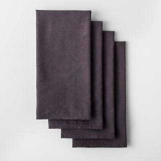 4pk Solid Flour Sack Dishtowel Dark Gray - Made By Design™