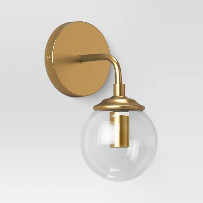 Geneva Collection Glass Globe Sconce Brass - Project 62™