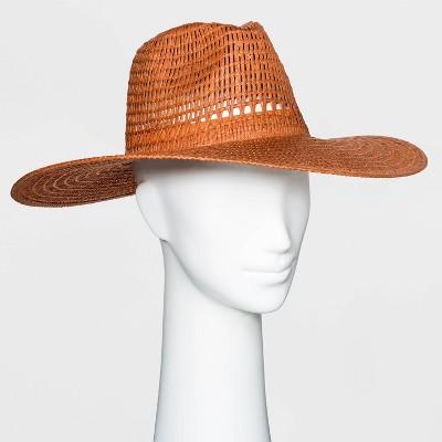 Women's Wide Brim Open Weave Straw Panama Hat - Universal Thread™
