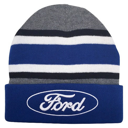 Ford Men's Beanies - Gray/Blue One Size - image 1 of 1