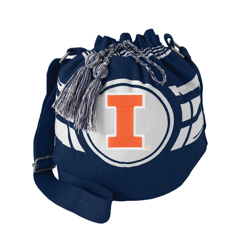 NCAA Illinois Fighting Illini Little Earth Ripple Drawstring Bucket Bag, Adult Unisex