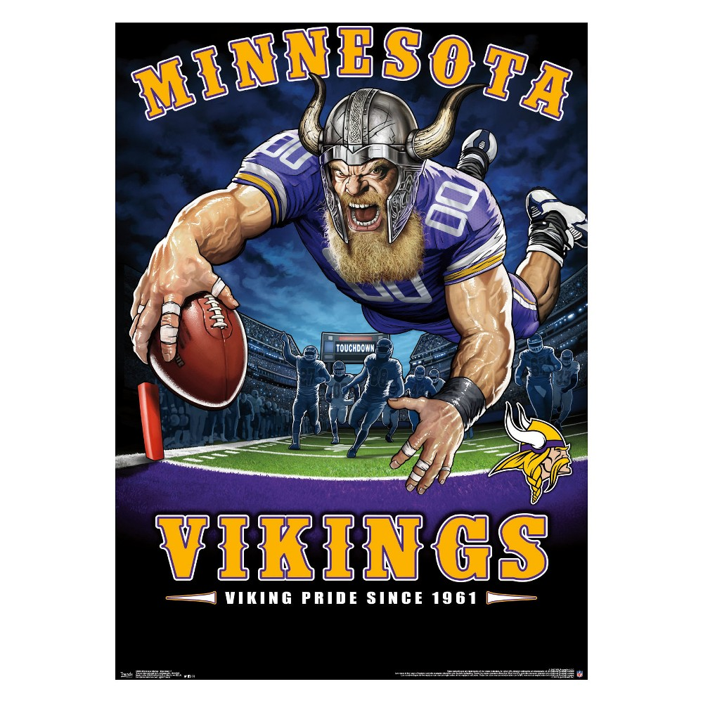 Minnesota Vikings End Zone Unframed Wall Poster