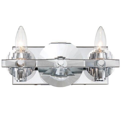Engeared 2-Light Bath Fixture Chrome - Rogue Decor Co. - image 1 of 3