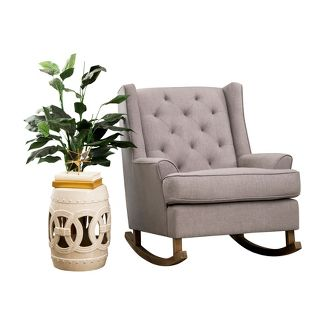 Olivia Tufted Rocking Chair Gray - Abbyson Living