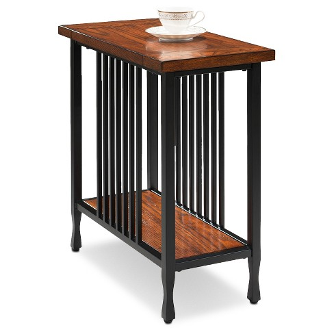 Ironcraft Narrow Chairside Table Mission Oak Leick Home