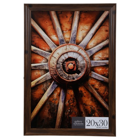 20x30 Walnut Large Wall Frame Gallery Perfect Target