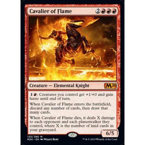 NM Core Set 2020 MTG Cavalier of Flame