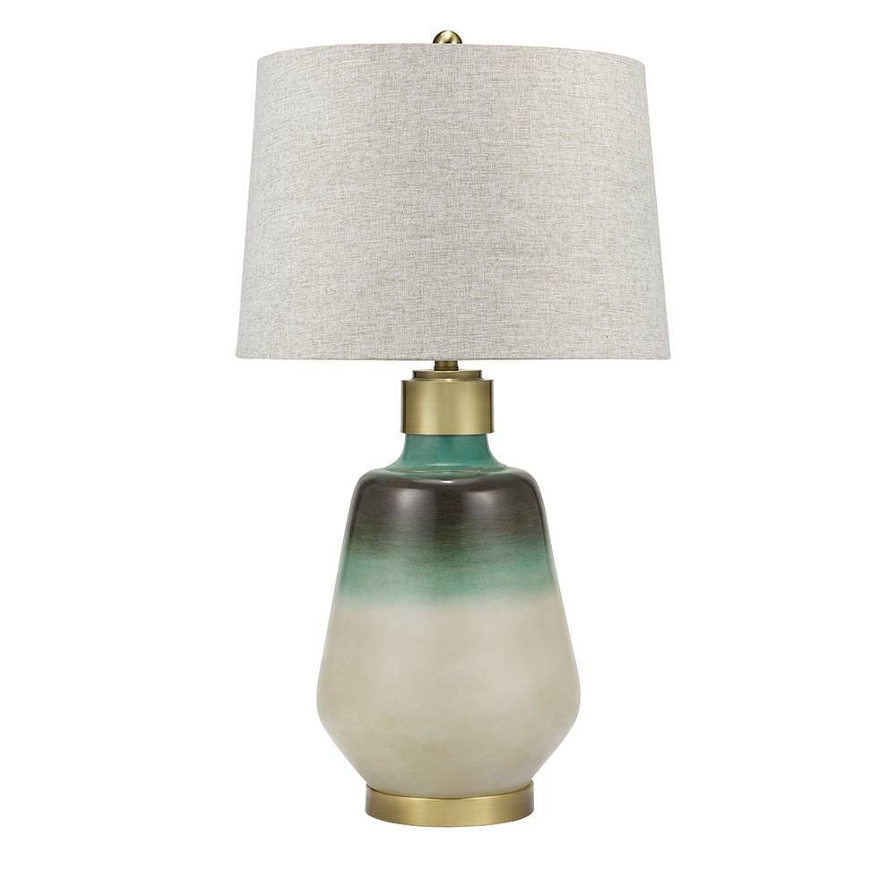 Barbados Table Lamp Blue (Includes Energy Efficient Light Bulb) - Cresswell Lighting