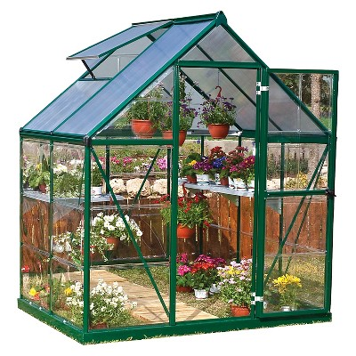 6' x 4' x 7' Nature Greenhouse Forest Green - Palram
