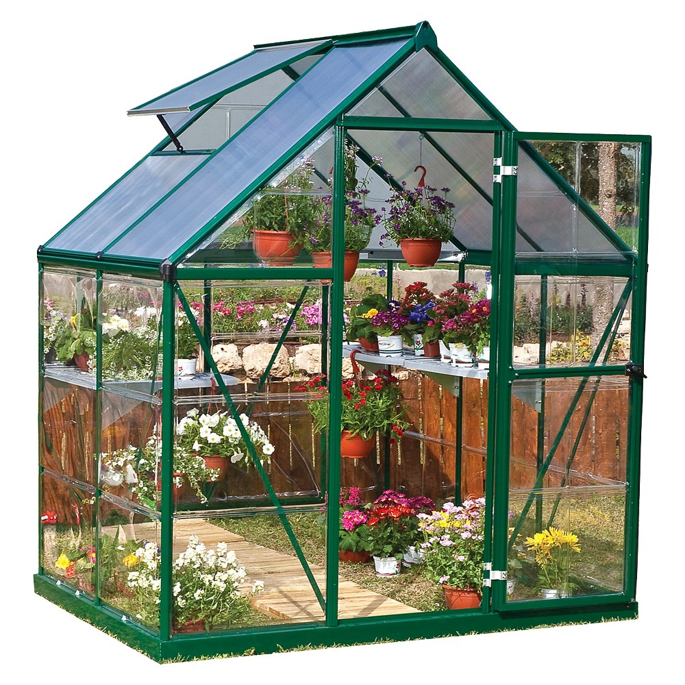 6' x 4' x 7' Nature Greenhouse - Forest (Green) - Palram