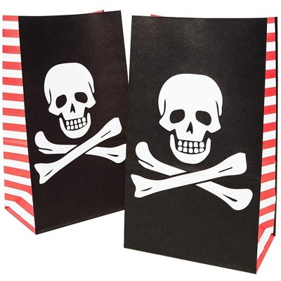 36-Pack Pirate Party Favor Goody Bags for Treats and Goodies