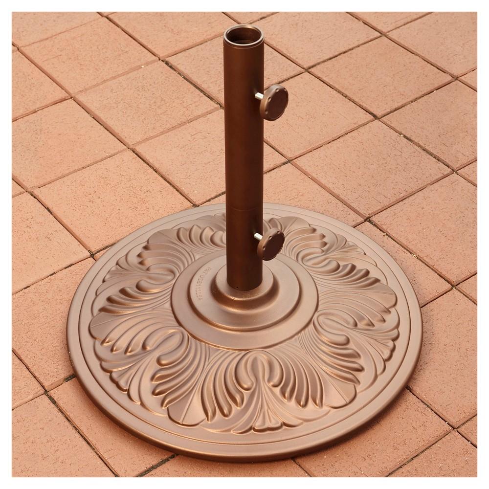 Image of Island Umbrella 50 lb Art Deco Aluminum Umbrella Base in Bronze