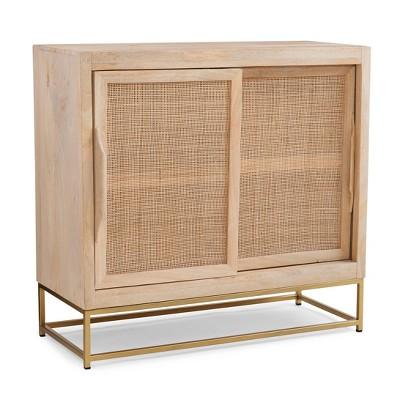 Gordon Sliding Door Cabinet Natural - Powell Company