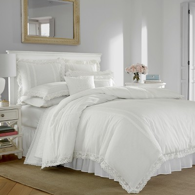 King White Annabella Duvet Cover Set - Stone Cottage