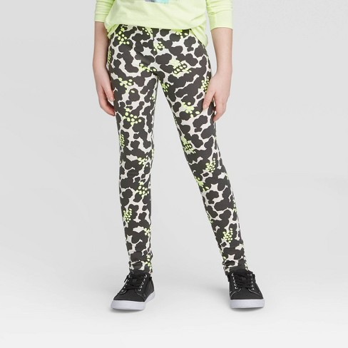 Girls' Splatter Leggings - Cat & Jack™ Cream - image 1 of 3