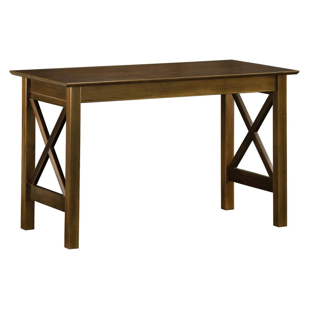 Writing Desk Modern Feel Walnut (Brown) - Atlantic Furniture Writing Desk Modern Feel Walnut - Atlantic Furniture