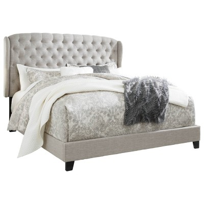 King Jerary Winged Upholstered Bed Gray - Signature Design by Ashley