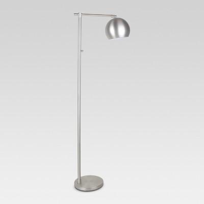Edris Metal Globe Floor Lamp Brushed Nickel Includes Energy Efficient Light Bulb - Project 62™