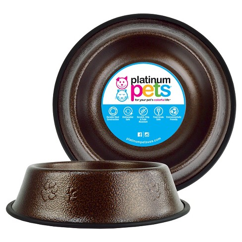 Platinum Pets Embossed Non-Tip Cat/Dog Bowl - Copper Vein - 6.25 Cup - image 1 of 2