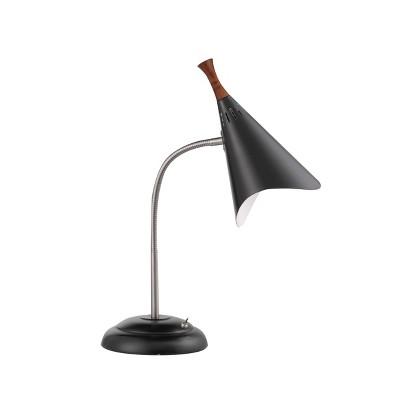 "18.5"" Draper Gooseneck Desk Lamp Black - Adesso"