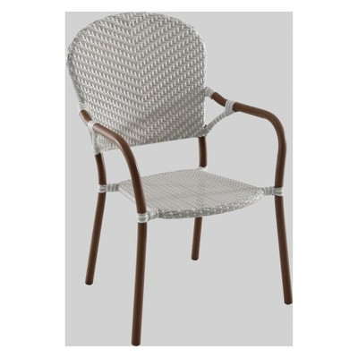 French Café WickerPatio Dining Chair- Gray/White - Threshold™