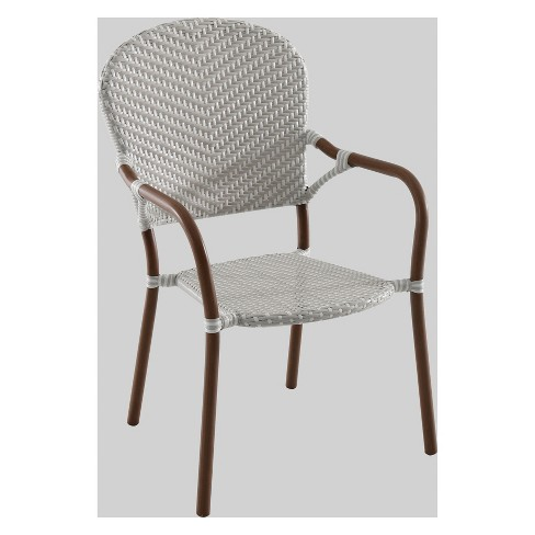 French Café Wicker Patio Dining Chair - Threshold™ - image 1 of 2