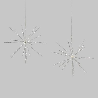 2pk LED 140LT Battery Operated Christmas Starburst Pure White - Wondershop™