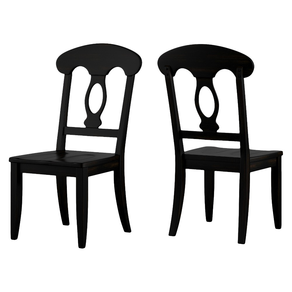 South Hill Napoleon Back Dining Chair (Set Of 2) - Antique Black - Inspire Q