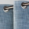 Textured Weave Light Filtering Curtain Panel - Threshold™ - image 2 of 2
