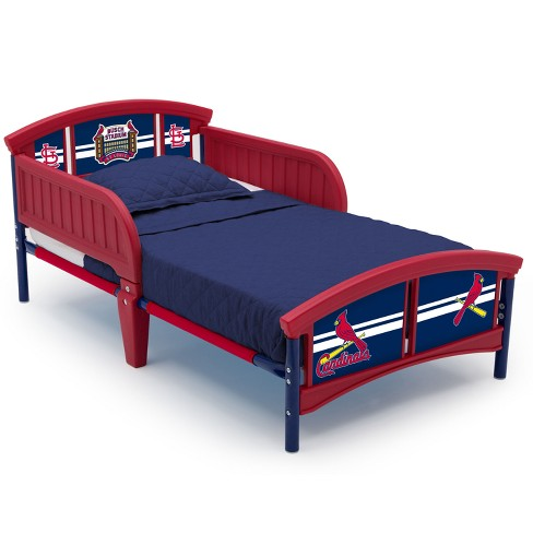 Mlb St Louis Cardinals Plastic Toddler Bed Red Target