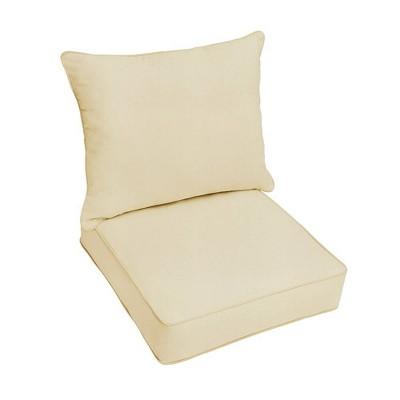 Sunbrella Canvas Outdoor Seat Cushion Beige