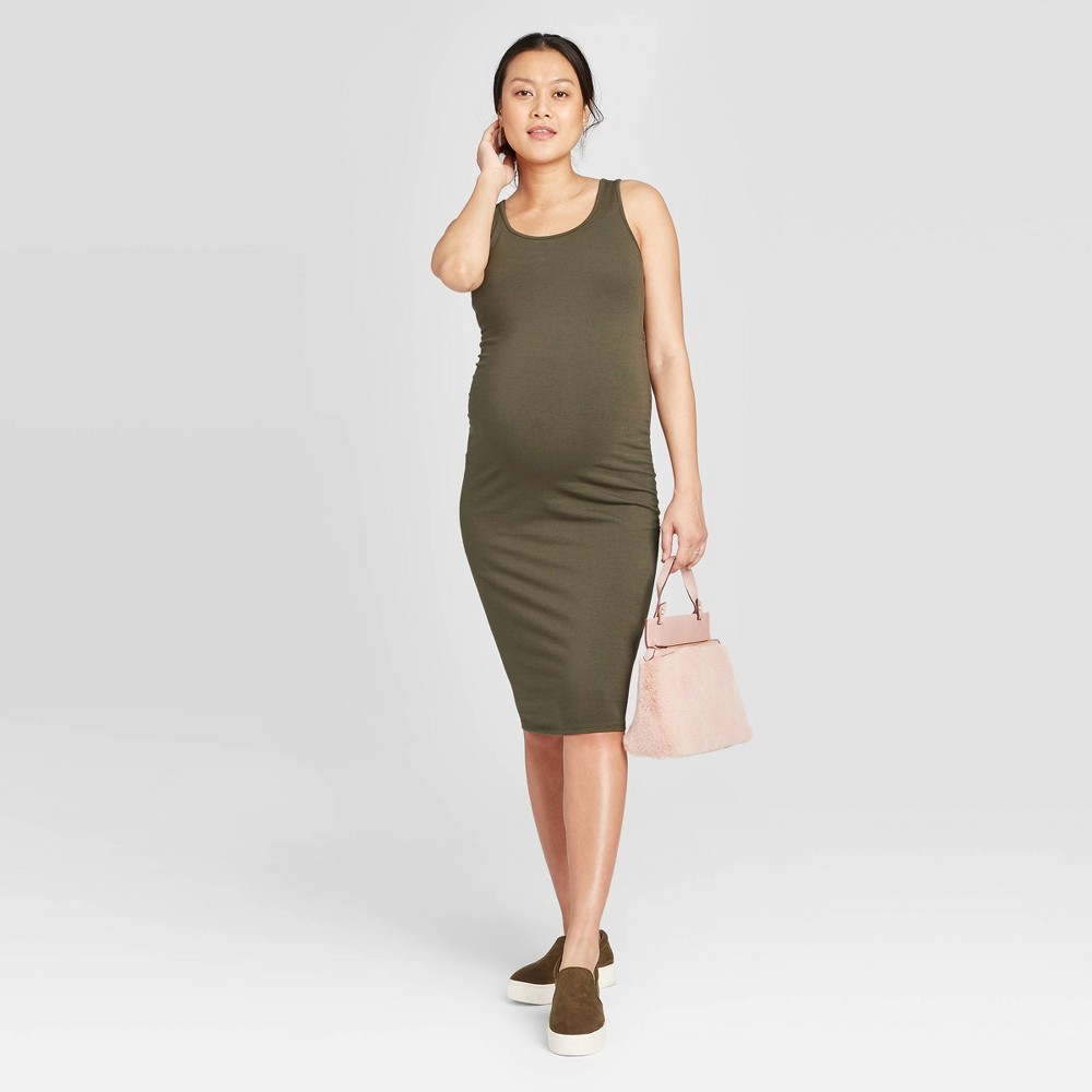 Sleeveless T-Shirt Maternity Dress - Isabel Maternity by Ingrid & Isabel Olive XXL, Green was $22.99 now $10.0 (57.0% off)