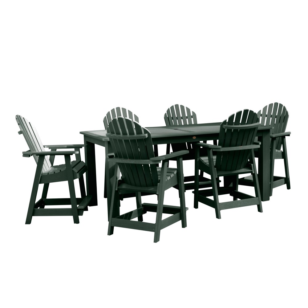"Image of ""Hamilton 7pc Rectangular Counter Height Dining Set 84"""" X 42"""" Charleston Green - Highwood"""