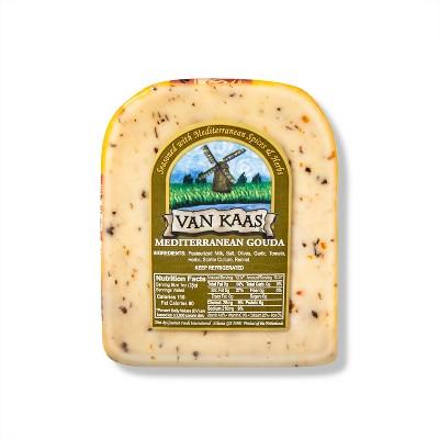 Van Kaas Mediterranean Gouda Cheese Wedge - 7oz