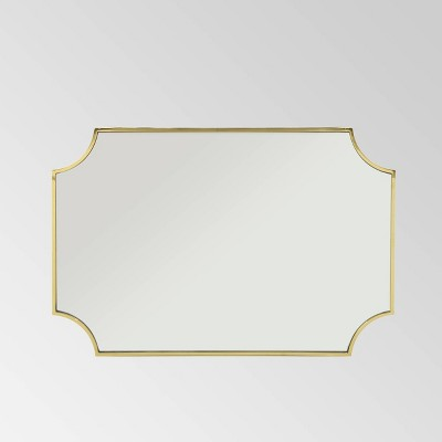 """36"""" x 24"""" Verne Glam Decorative Wall Mirror Gold - Christopher Knight Home"""