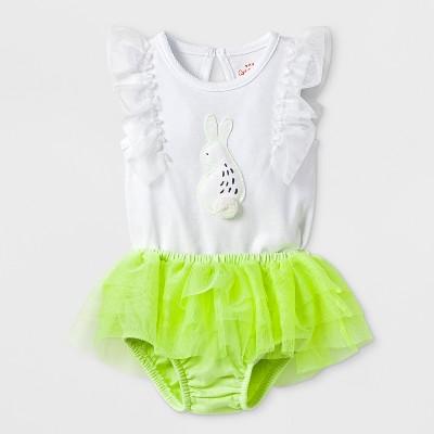 Baby Girls' Bunny Bodysuit with Tutu Bloomer Set - Cat & Jack™ White 0-3M