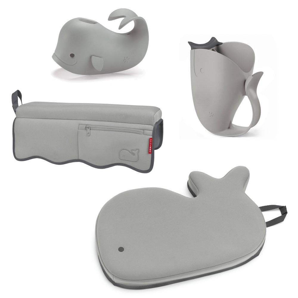Image of Skip Hop Moby Baby Bath Set with Four Bathtime Essentials - Gray