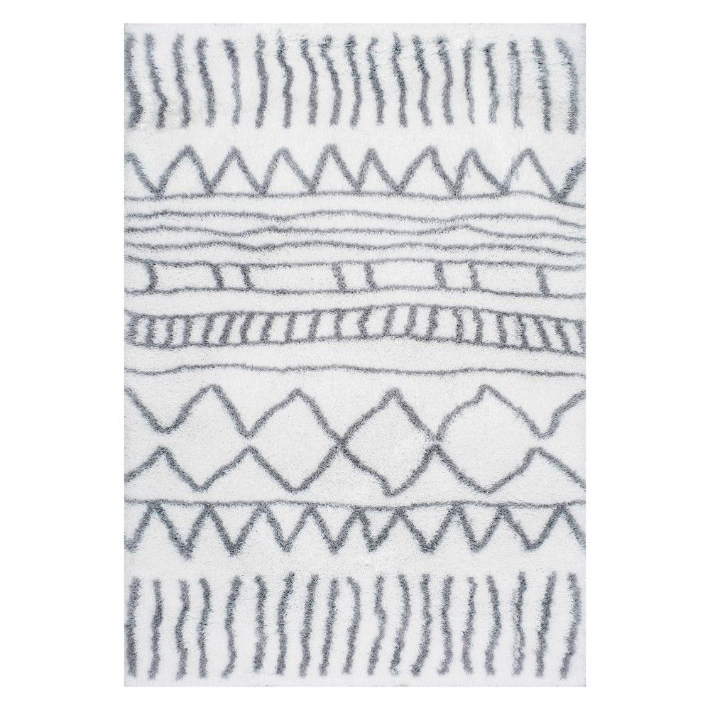 Gray Solid Loomed Area Rug 5'X8' - nuLOOM, Pink