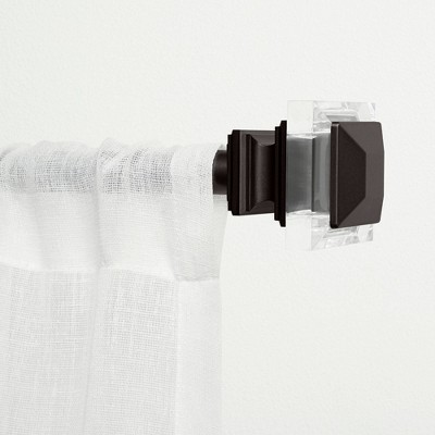 """Exclusive Home Prism 1"""" Curtain Rod and Coordinating Finial Set"""