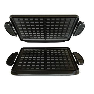 George Foreman Grill Waffle Plates - Black GFP84WP