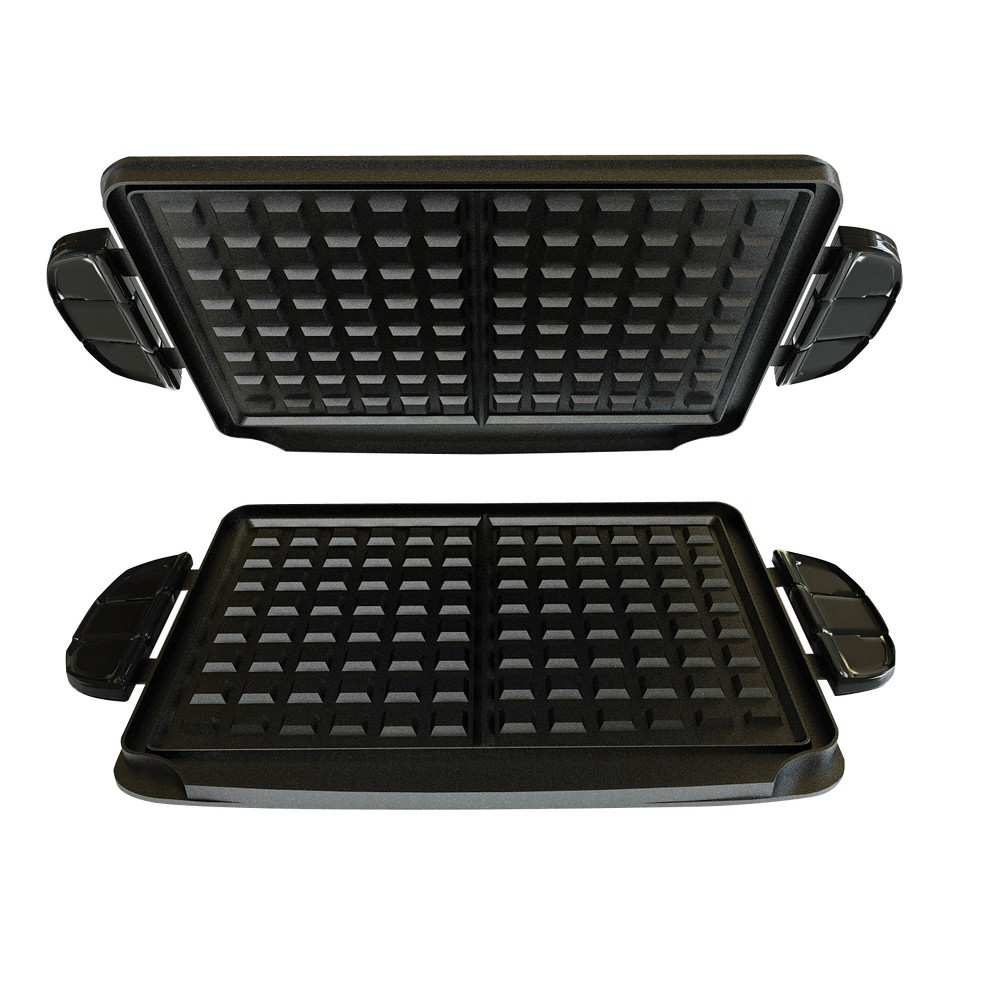 Image of George Foreman Grill Waffle Plates - Black GFP84WP